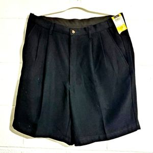 Haggar cool 18 pleated comfort  equipped shorts